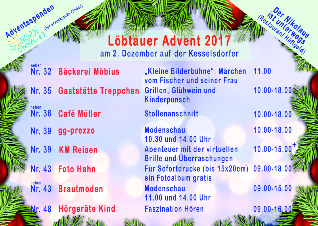 Löbtauer Advent 2017 front